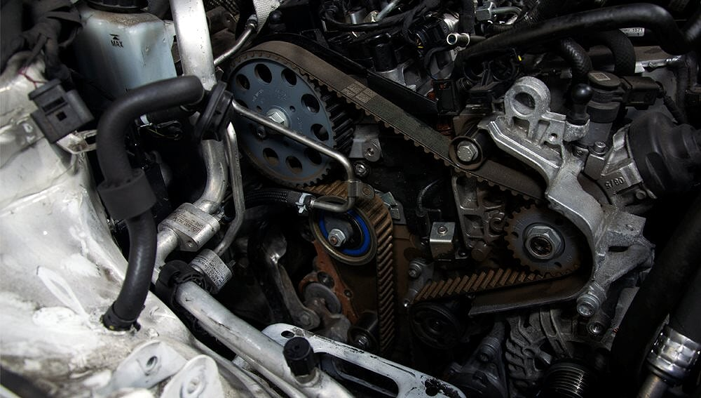 Timing belt service replacement